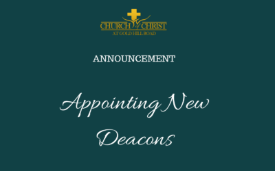 Appointing New Deacons – Deacon Suggestion Form