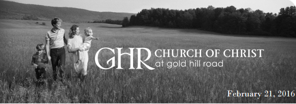 Church Of Christ at Gold Hill Road- April 8, 2018